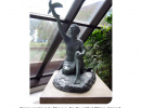 """Bronze sculpture by Mary Lou Neville entitled """"Wings of Hope"""""""