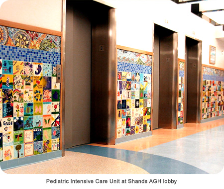 Pediatric Intensive Care Unit at Shands AGH lobby