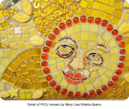 Detail of PICU mosaic by Mary Lisa Kitakis-Spano