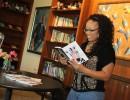 Khandice reading poetry