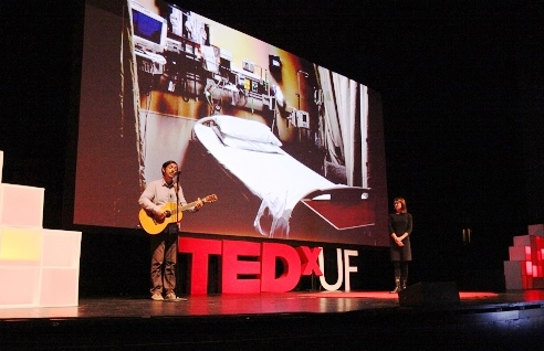Jill Sonke and Ricky Kendall at TedXUF