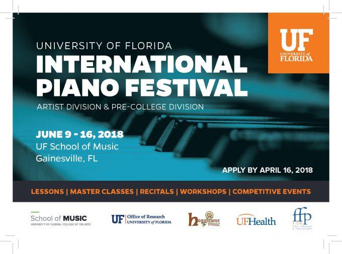 International Piano Festival postcard