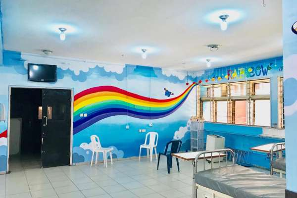 Completed mural in the Pediatric Ward